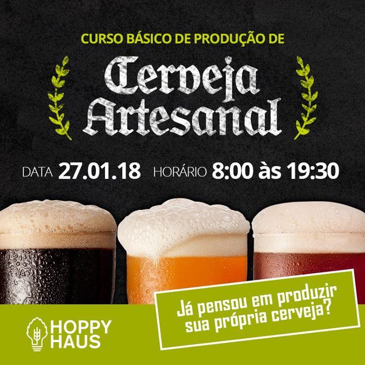 Curso Básico de Produção de Cerveja Artesanal.