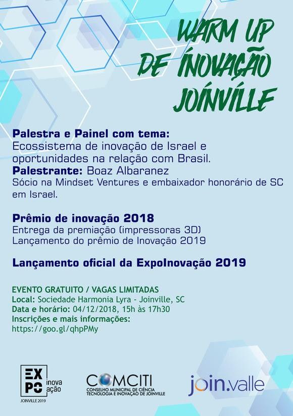 WARM UP DE INOVAÇÃO JOINVILLE