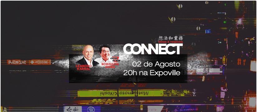 Connect - Leandro Karnal e Robinson Shiba na Expoville  das 20:00 às 22:00 hrs