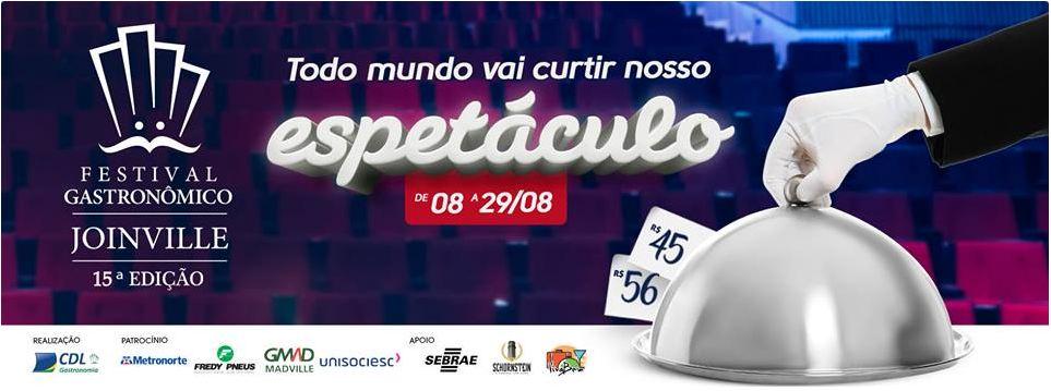 15° Festival Gastronômico Joinville - dias 08 a 29 de Agosto