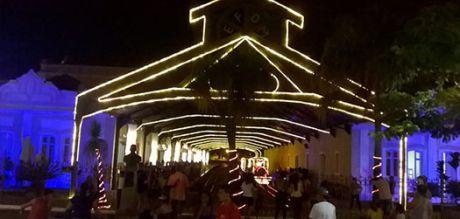 Trem noturno na Semana Santa em Tiradentes