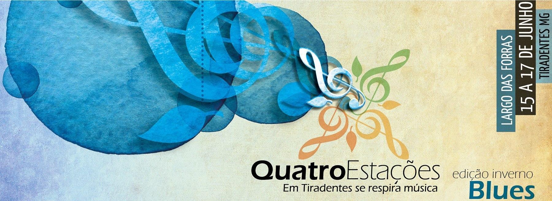 A segunda edição do Quatro Estações Festival reunirá, entre os dias 15 a 17 de junho, música de qualidade, cultura e gastronomia na famosa Largo das Forras, em Tiradentes/MG.