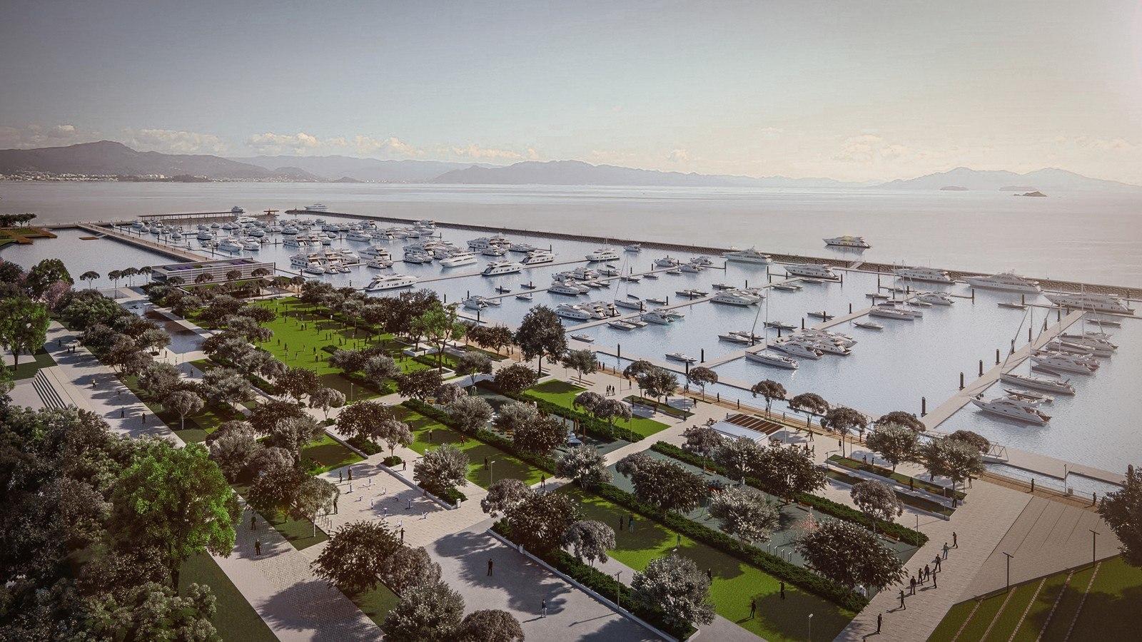 Florianópolis ganhará parque urbano com marina em Av. Beira-mar Norte